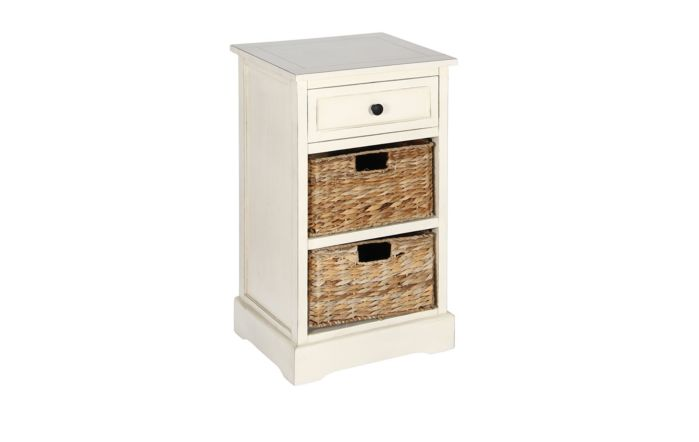 Pacific Lifestyle Cream Wood 1 Drawer 2 Basket Unit