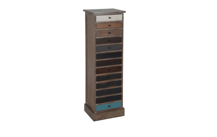 Pacific Lifestyle Natural Drift Wood 13 Drawer Unit