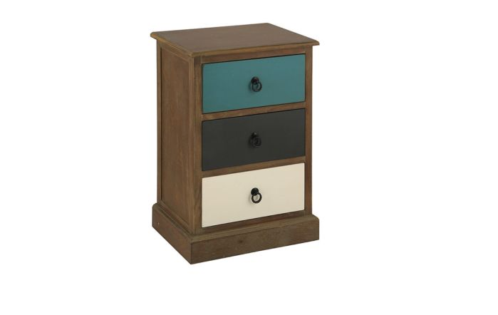 Pacific Lifestyle Natural Drift Wood 3 Drawer Unit