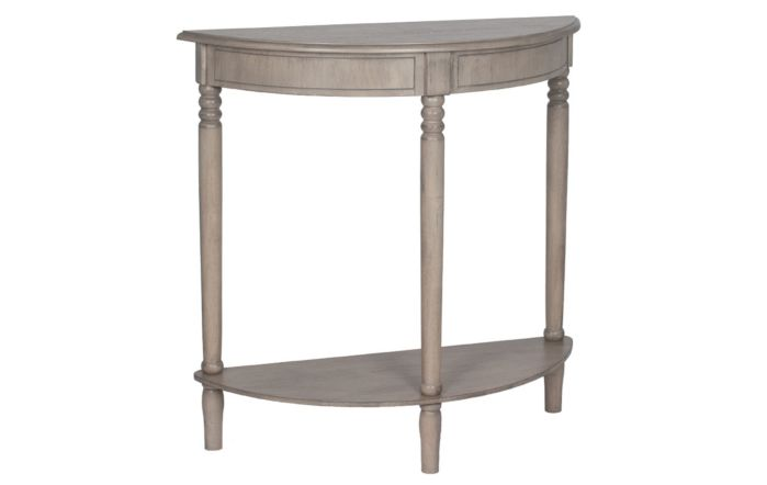 Pacific Lifestyle Taupe Pine Wood Half Moon Console Table