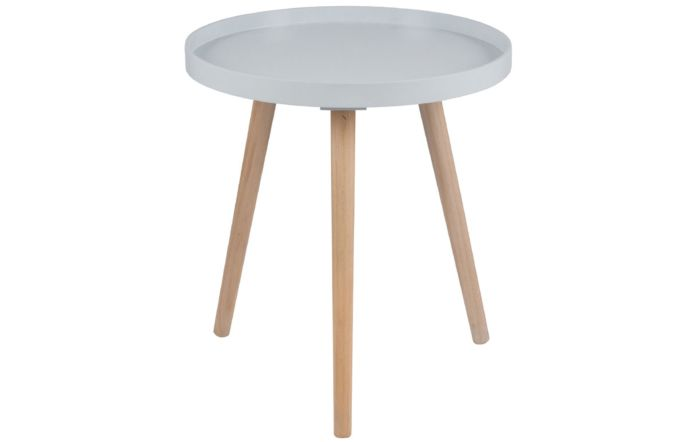 Pacific Lifestyle Halston Grey & Natural Pine Wood Round Table