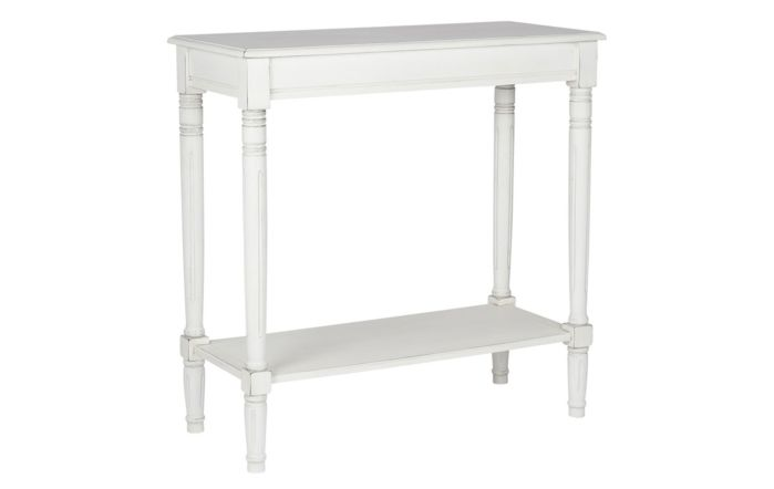 Pacific Lifestyle Elizabeth White Pine Wood Oblong Console Table