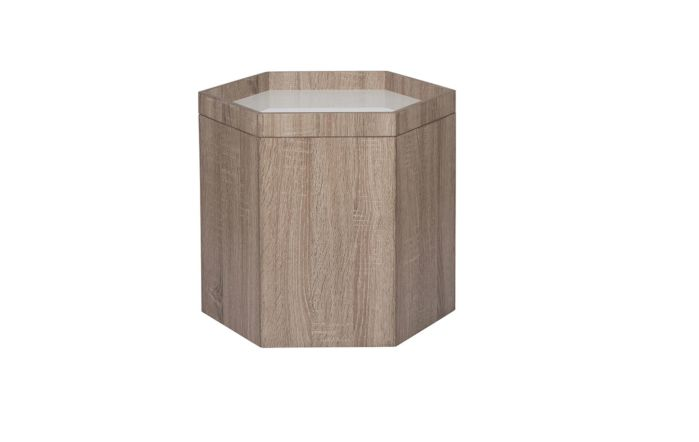 Pacific Lifestyle Natural & White Wood Hexagonal Storage Box