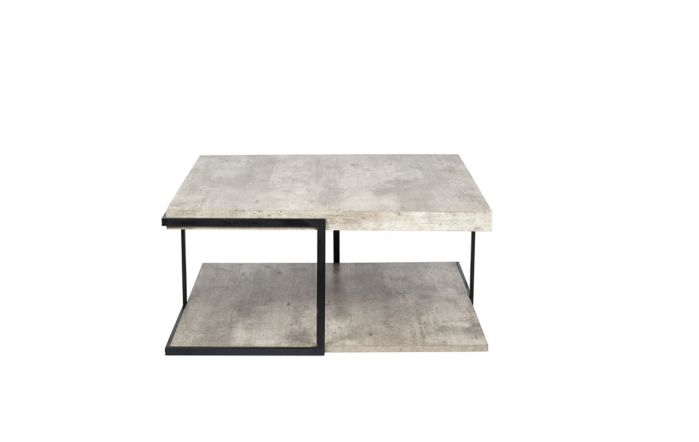 Pacific Lifestyle Concrete Effect & Black Iron Coffee Table