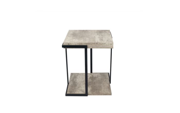 Pacific Lifestyle Concrete Effect & Black Iron Side Table