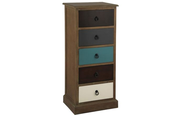Pacific Lifestyle Natural Drift Wood 5 Drawer Unit