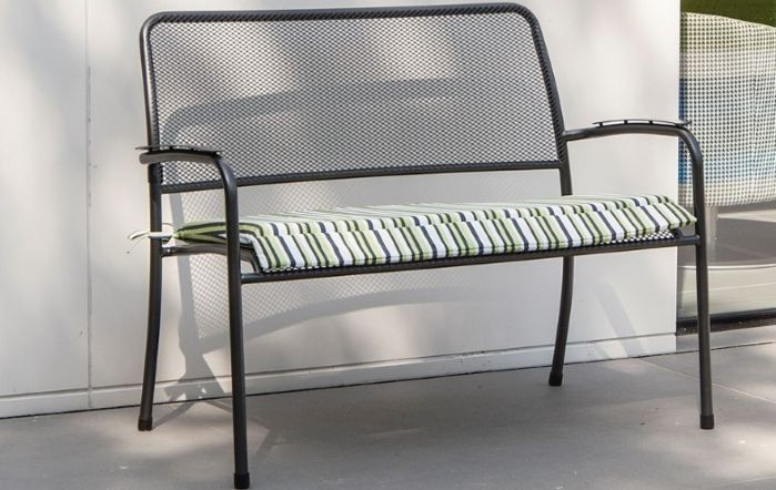 Alexander Rose Portofino Mesh Bench with cushion