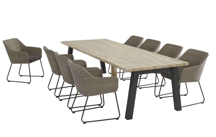 4 Seasons Outdoor Derby Avila Eight Seater Dining set