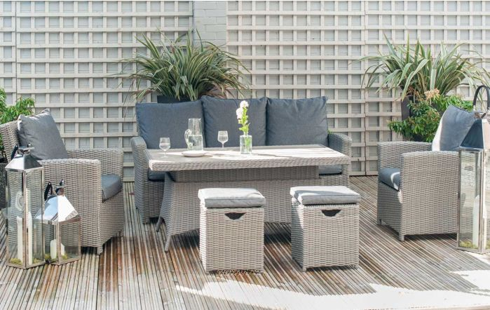 Pacific Lifestyle Barbados Adjustable Casual Relaxed Garden Set