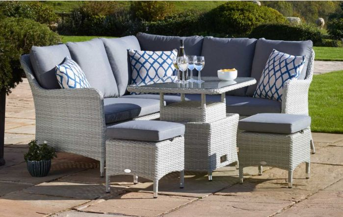 Bramblecrest Tetbury Mini Adjustable Tree Free Casual Sofa Dining Set