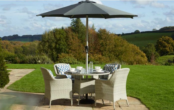 Bramblecrest Tetbury Tree Free Four Seater Dining Set
