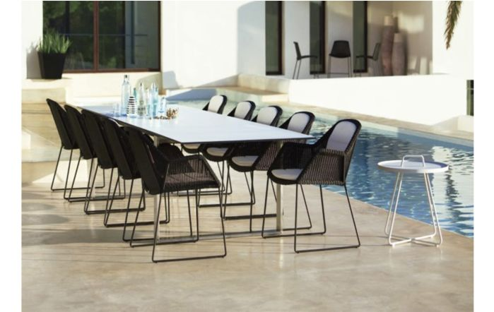 Cane-Line Breeze Ten Seater Dining Set-Black
