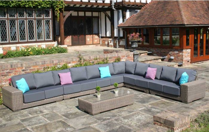 Bridgman Kensington Modular 7 Piece Corner Set With Grey Waterproof Cushions