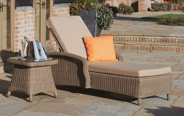 Bridgman Brighton Sun Lounger With Square Side Table