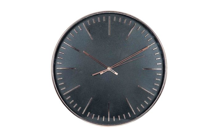 Pacific Lifestyle Copper & Black Round Wall Clock