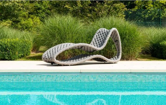 Alexander Rose Cordial Luxe Grey Woven Rope Surf Sunbed