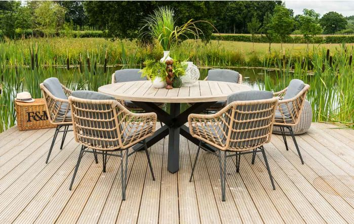 4 Seasons Outdoor Louvre Cottage Six Seater Dining set