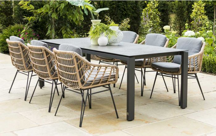 4 Seasons Outdoor Goa Cottage Six Seater Dining set