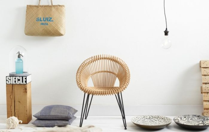Vincent Sheppard Rattan Curly Chair