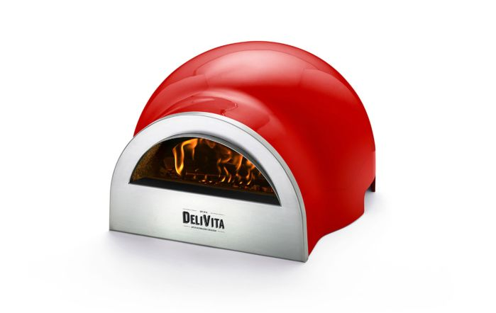 DeliVita Wood Fired Oven-Chilli Red-Oven Only