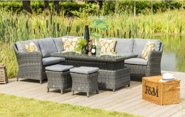 4 Seasons Outdoor Denver Adjustable Rectangular Casual Set