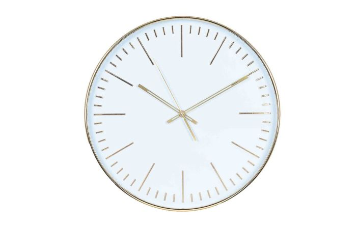 Pacific Lifestyle Gold & White Round Wall Clock