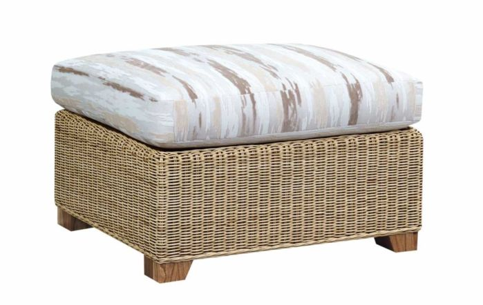 Cane Industries Luca Cane Rattan Wicker Chaise Footstool