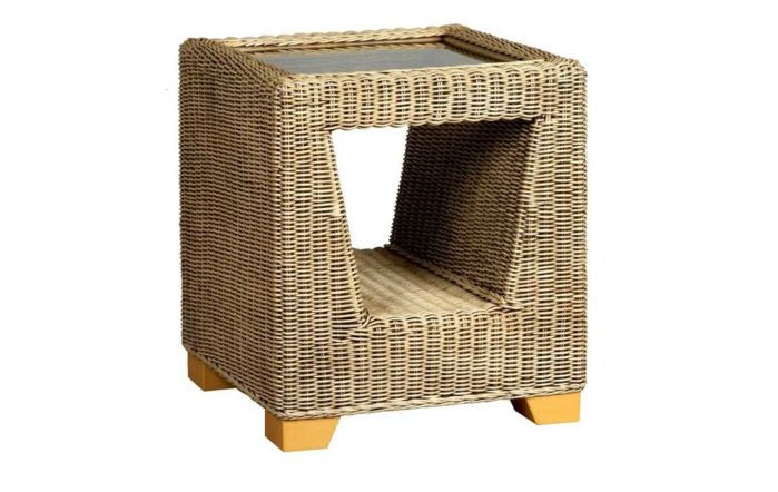 Cane Industries Luca Cane Rattan Wicker Side Table