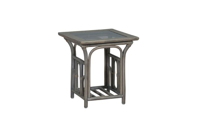 Cane Industries Lupo Cane Rattan Wicker Side Table