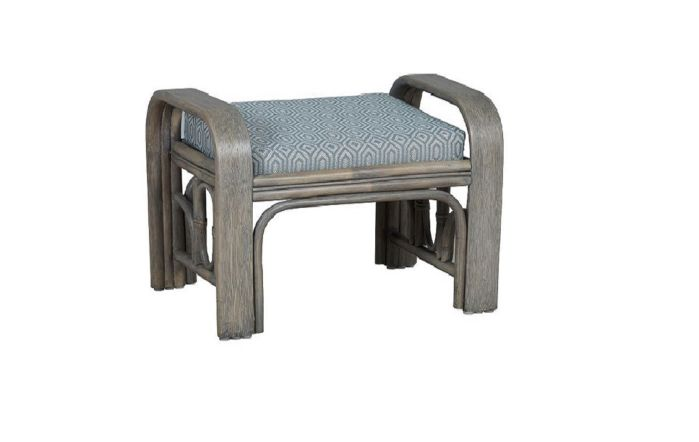 Cane Industries Lupo Cane Rattan Footstool