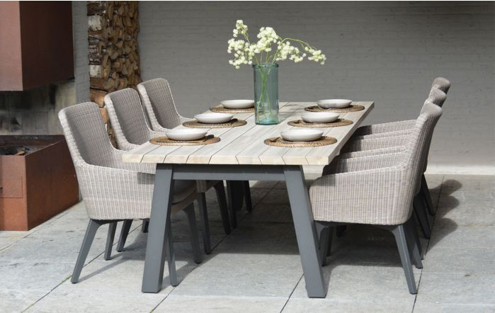 4 Seasons Outdoor Derby Luxor Six Seater Dining set