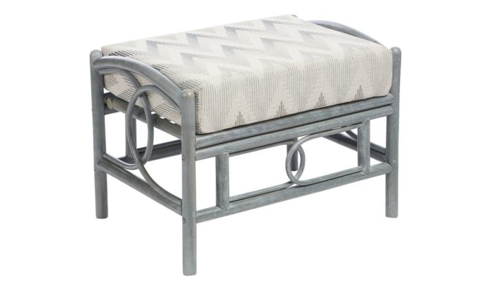 Desser Madrid Grey Cane Rattan Footstool
