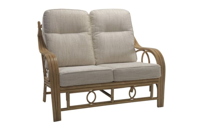 Desser Madrid Light Oak Cane Rattan Two Seater