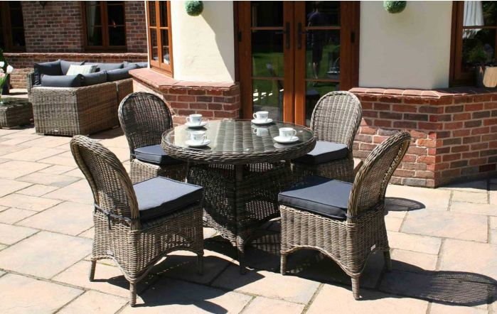 Bridgman Mayfair 100cm Round Dining Table with 4 Dining Chairs