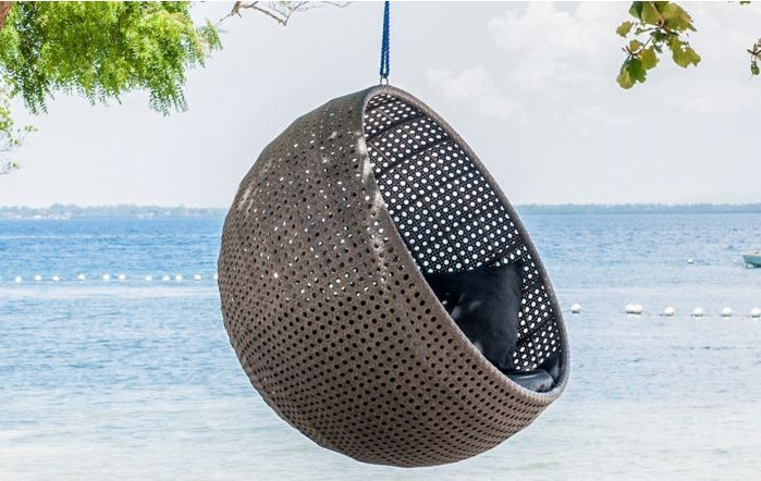 Alexander Rose Monte Carlo Hanging Chair with cushion