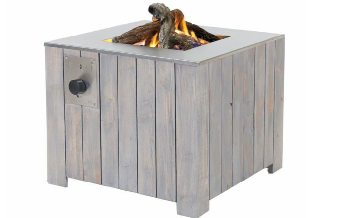 Pacific Lifestyle Cosicube 70cm Grey Wash Square Fire Pit