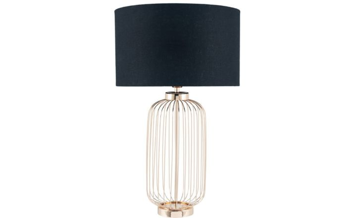 Pacific Lifestyle French Gold Metal Wire Tall Table Lamp
