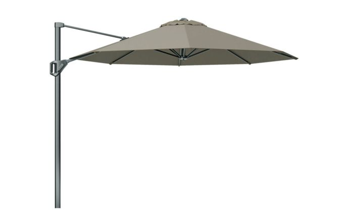 Pacific Lifestyle Voyager T1 3m Round Taupe Parasol with 90kg Granite Base