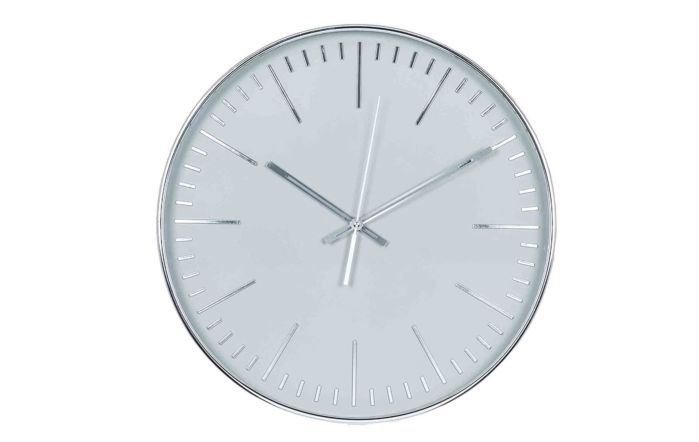 Pacific Lifestyle Silver & Grey Round Wall Clock