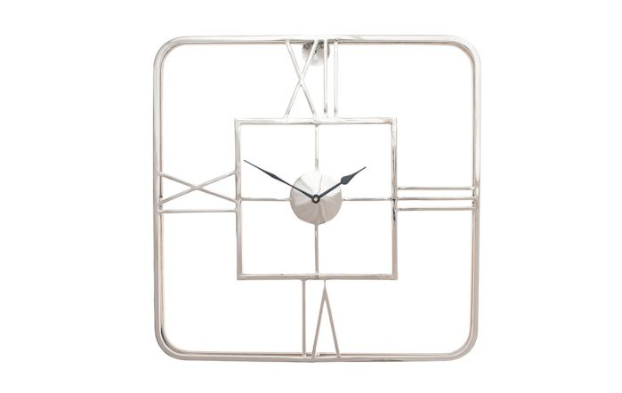 Pacific Lifestyle Silver Metal Square Wall Clock
