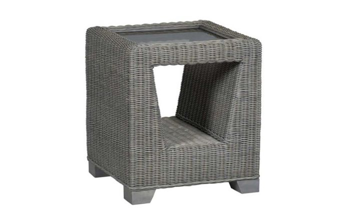 Cane Industries Trento Cane Rattan Wicker Side Table