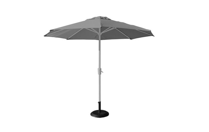 Bridgman 3m Deluxe Round Aluminium Parasol - Grey (base not included)