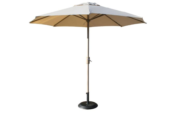 Bridgman 3m Deluxe Round Aluminium Parasol - Almond (base not included)