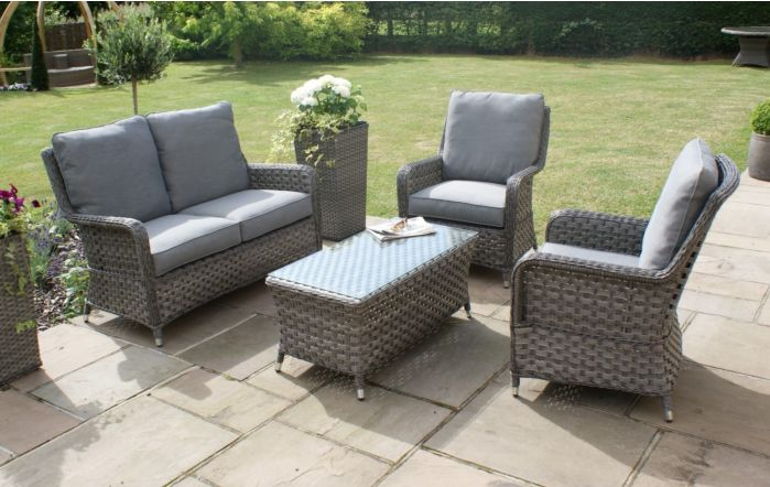 Maze Rattan Victoria Rattan Garden High Back Sofa Set