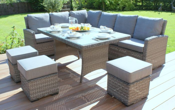 Maze Rattan Victoria Rattan Garden Kingston Corner Dining Set